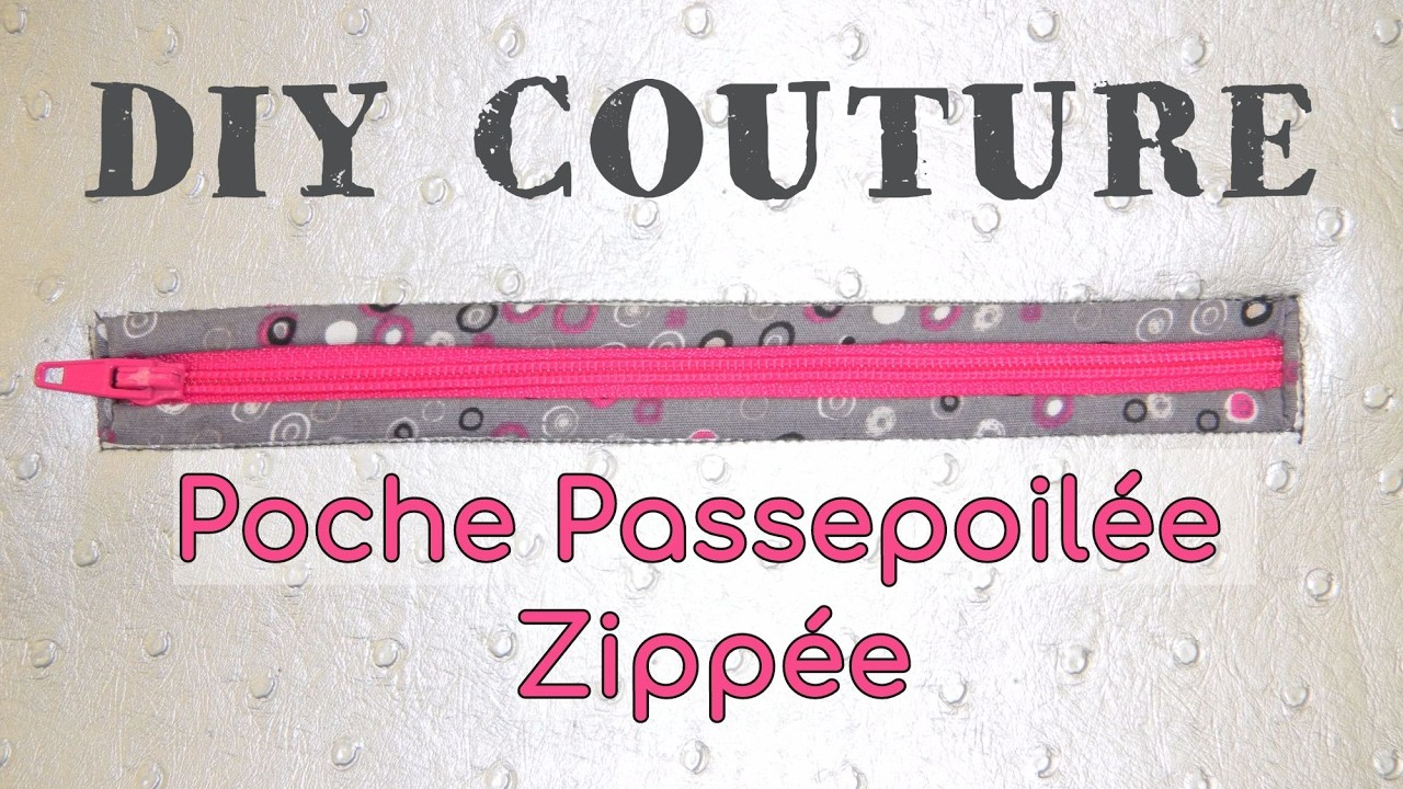 coudre une poche passepoil e zipp e tuto couture diy. Black Bedroom Furniture Sets. Home Design Ideas