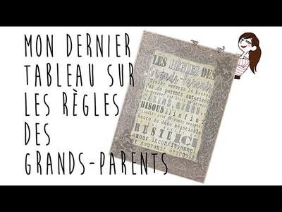 DIY Tableau : Règles des Grands-Parents