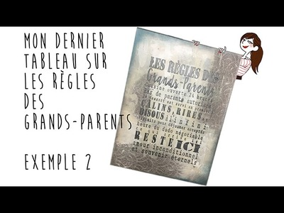 DIY Tableau : Règles des Grands-Parents Exemple2