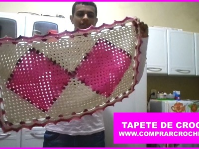 Tapete De Crochet Rosa