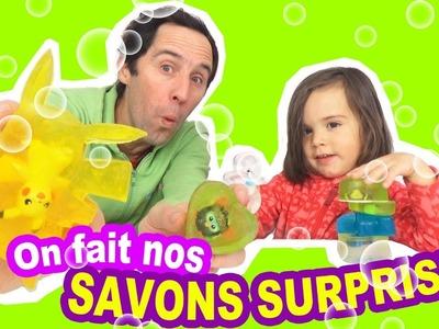 TUTO DIY - COMMENT FAIRE les SAVONS SURPRISES maison ? - Shopkins - Furby - Pokemon -Peppa Pig