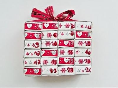 Fabriquer un calendrier de l'Avent avec des boîtes d'allumettes