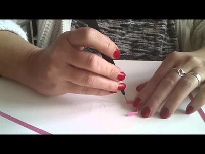 Quilling coller sur la tranche écriture simplifiée