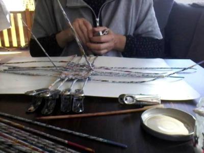 Tuto Eco Vannerie en papier : Fond panier carré