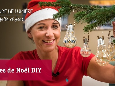 Boules de Noël DIY avec de vieilles ampoules à incandescence