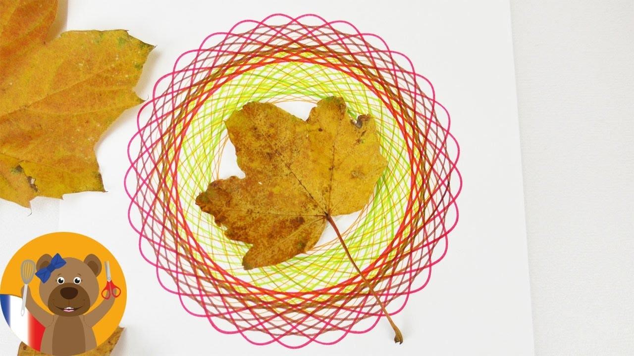 Dessiner un mandala aux couleurs de l'automne DIY Déco | Dessiner avec le spirographe
