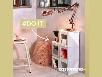 DIY : fabriquer un meuble avec des parpaings - Castorama