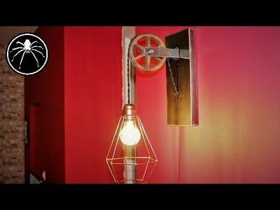 ► DIY : Réalisation d'une lampe sur poulie style industriel