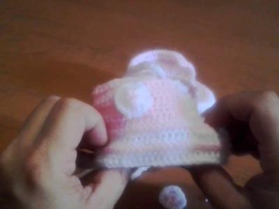 Zapatillitas bebe crochet  (parte 4)