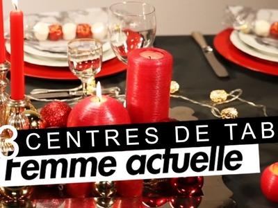 DIY : 3 centres de table pour Noël