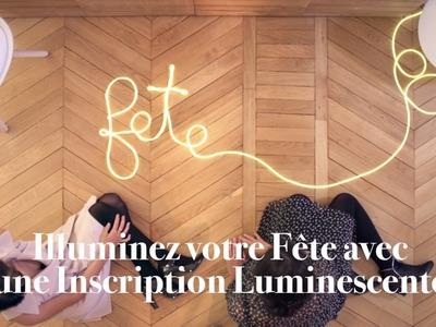 DIY Atelier des Fêtes Ferrero Rocher - Tuto inscription lumineuse