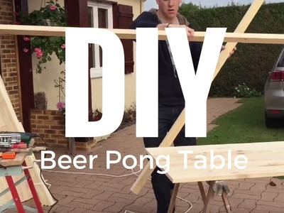 DIY Beer Pong Table (Fabrication d'une table de beer Pong)