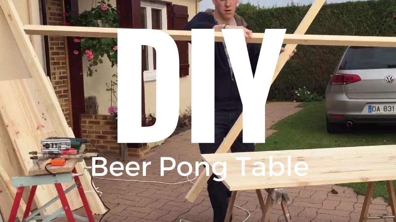 Diy beer pong table fabrication dune table de beer pong - Fabriquer une table de beer pong ...