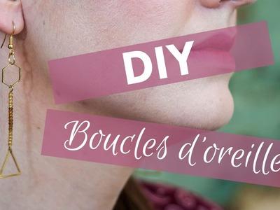 [DIY] Boucles d'oreilles minimalistes