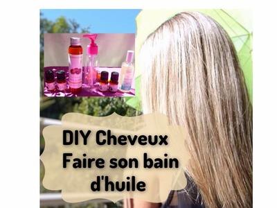 DIY Huile.Soin Cheveux secs & pousse des cheveux ❤ (liens barre d'info)