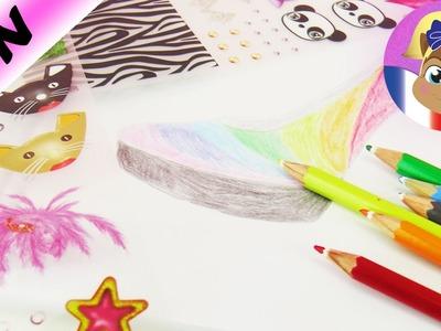 Chaussures arc-en-ciel créées dans le cahier Topmodel Shoe Designer | Rainbow Style