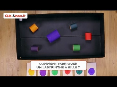 Club.kinder.fr - DIY - Comment créer un labyrinthe à bille ?