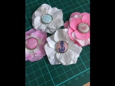D.I.Y = Recycler des fleurs artificielles en embellisement