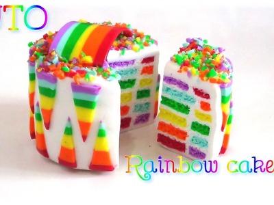 TUTO | Rainbow cake en FIMO