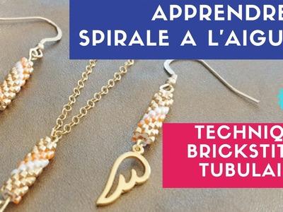 DIY ┋ PARURE BIJOUX PERLES - MIYUKI. SPIRALE à L'AIGUILLE - Technique BRICKSTITCH TUBULAIRE