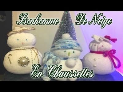 DIY De Noel [ Bonhomme De Neige Avec Une Chaussette ] ⛄