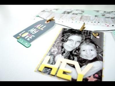 Scrapbooking Pas à Page #11 - Process vidéo #Noel