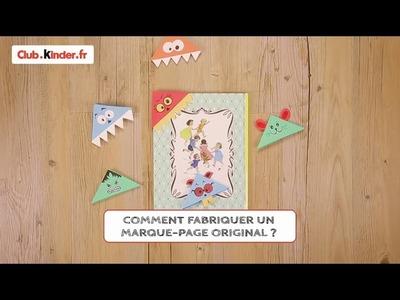 Club.kinder.fr - DIY - Comment fabriquer un marque-page original ?