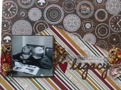 Pas à pas Page de Scrapbooking par Caroline Champoux ''Legacy''