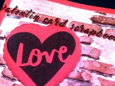 Scrapbooking :  Carte #008 ❥ ~~°St Valentin°~~ (2)