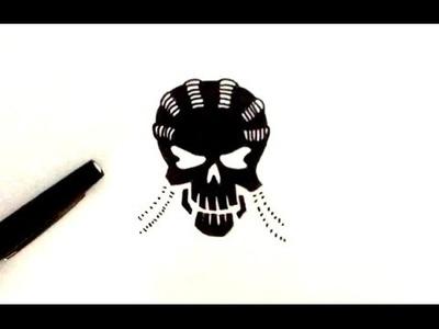 DESSIN Slipknot (tête de mort) - Suicide Squad