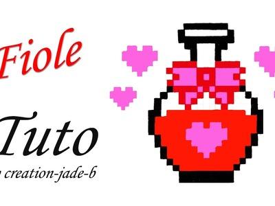 Tuto Pixel Art - Fiole.Potion d'amour (Saint-Valentin) ! ♥
