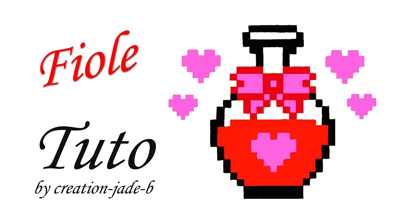 tuto pixel art fiole potion damour saint valentin. Black Bedroom Furniture Sets. Home Design Ideas