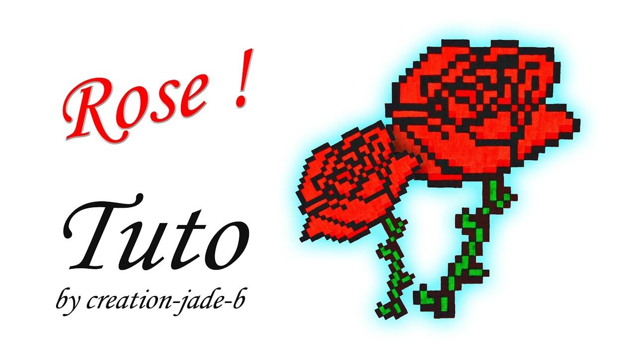 Tuto Pixel Art Fleur Rose Rouge Saint Valentin
