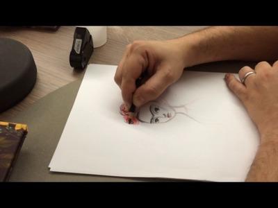 """Comment j'ai dessiné """"Frida"""", la leçon de dessin de Benjamin Lacombe"""