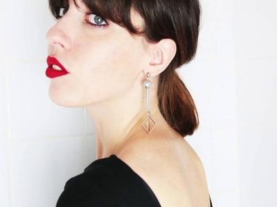 Diy boucles d'oreilles design tendance