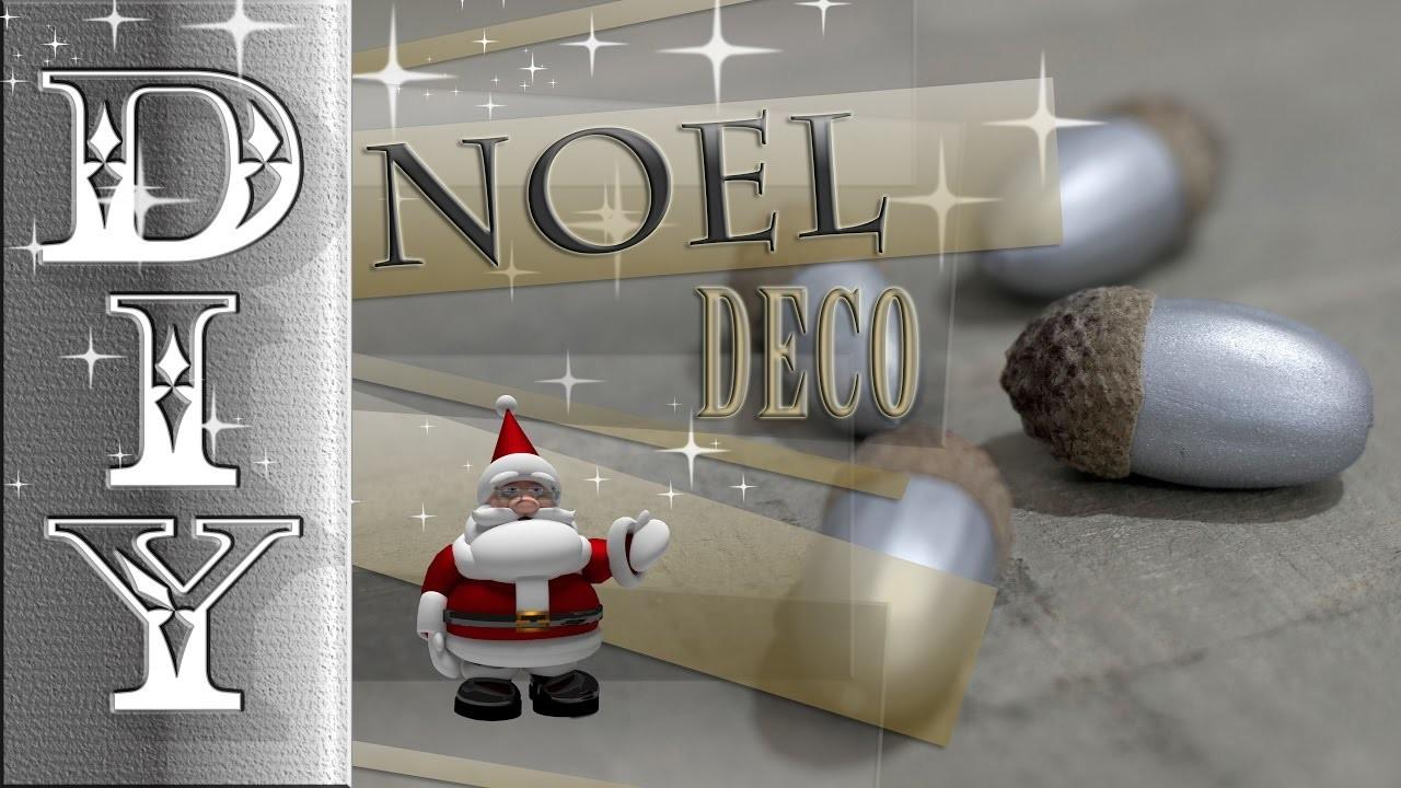 Noel deco gland argent! christmas decoration!