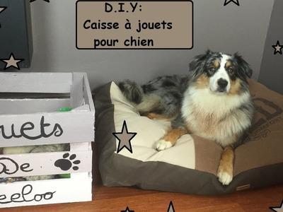 DIY caisse a jouets pour chien