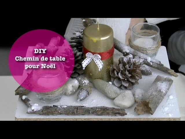 DIY Chemin de table de Noël