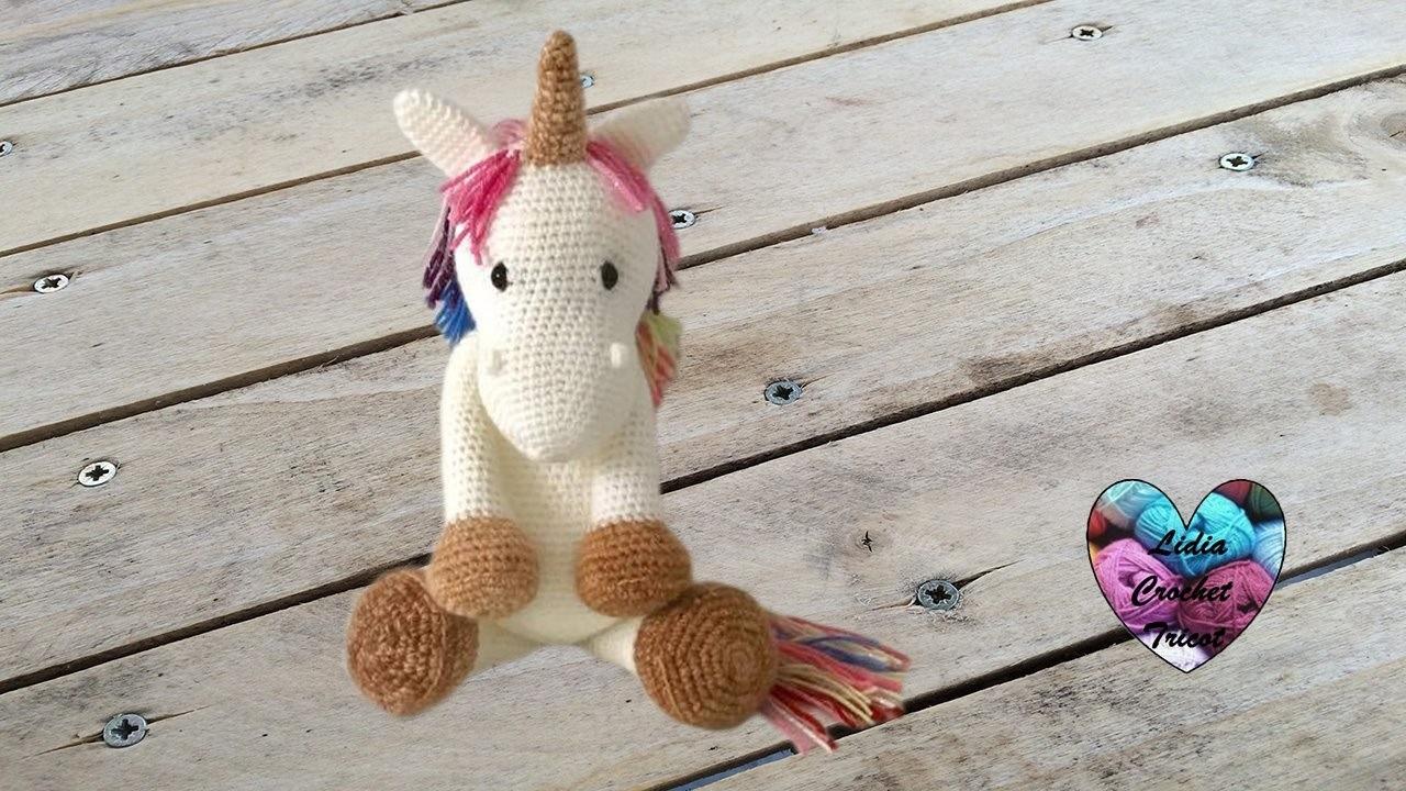 Amigurumi Unicornio Patron Gratis : Amigurumi Licorne crochet 1.2. Unicorn amigurumi crochet ...