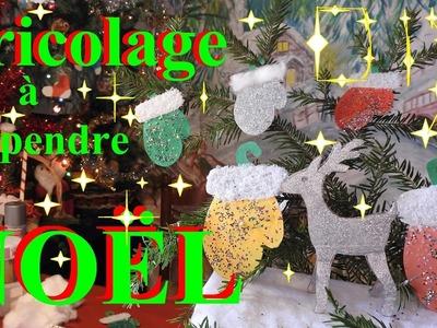 Bricolage de Noël en papier de moufle : DIY Décoration facile