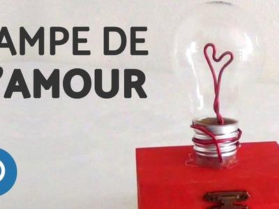 Cadeau DIY Saint-Valentin : ampoule de l'amour