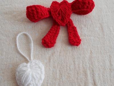 Crochet corazones para decorar - souvenirs en crochet