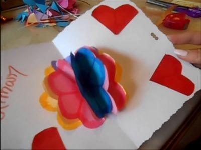 DIY : Fleurs en papier 3D + Bonus exemple de carte St Valentin ????❤????????????????