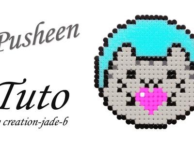 DIY Saint-Valentin - Pusheen le Chat en Perles à repasser (Hama) ! ♥