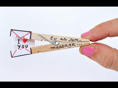 DIY Spécial Saint-Valentin - Message d'amour sur pince à linge