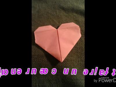 Origami Coeur de Saint Valentin