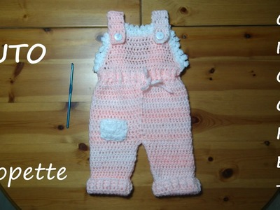 TUTO CROCHET COMMENT FAIRE UNE SALOPETTE
