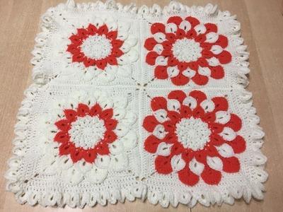 Tuto fleur granny au crochet 2.2