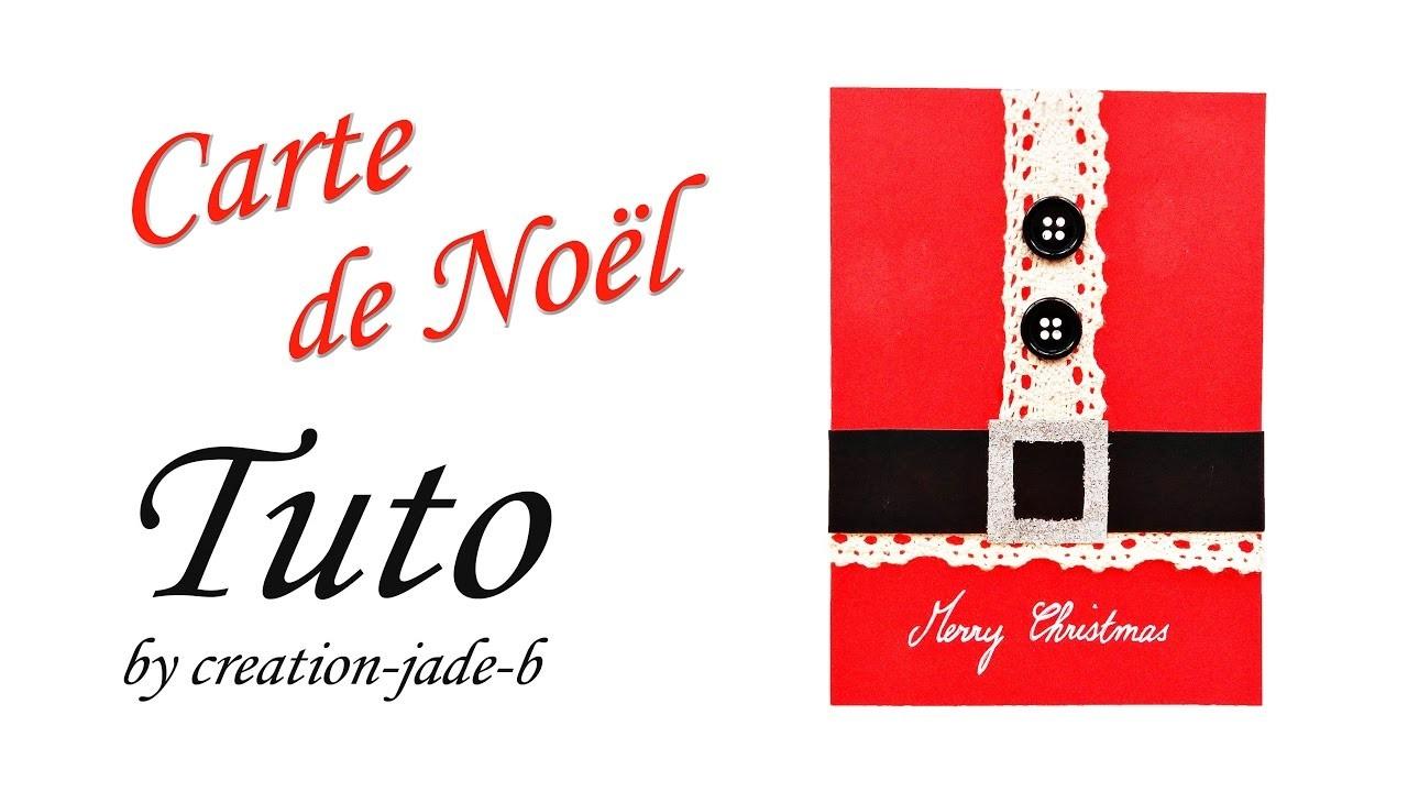 DIY Carte de Noël - Père Noël Rouge !