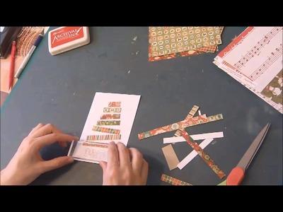 """En Route pour Noël (n°5) """"Sapin de papier"""""""